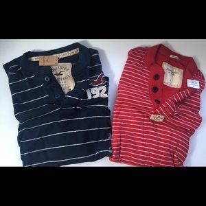 Abercrombie and Hollister Long Sleeve Henley's